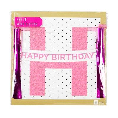 画像3: パーティバナー・ガーランド/Happy Birthday(ピンク)