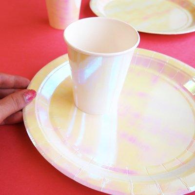 画像3: 紙皿(23cm)パステル(オーロラカラー)