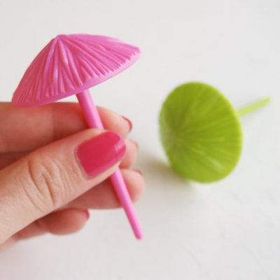 画像1: ケーキピック/3D傘・パラソル(3本入)