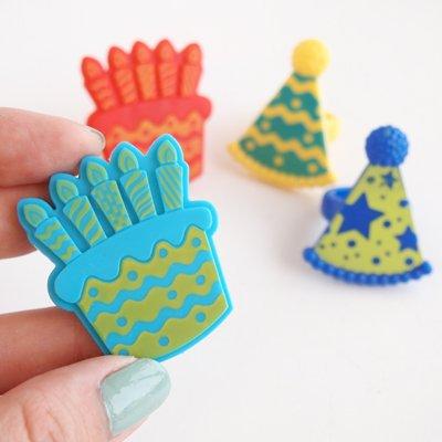 画像2: ケーキリング/ケーキ&パーティーハット(2種4個入)