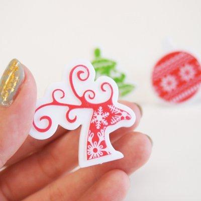 画像1: ケーキリング/ノルディッククリスマス(3個入り)