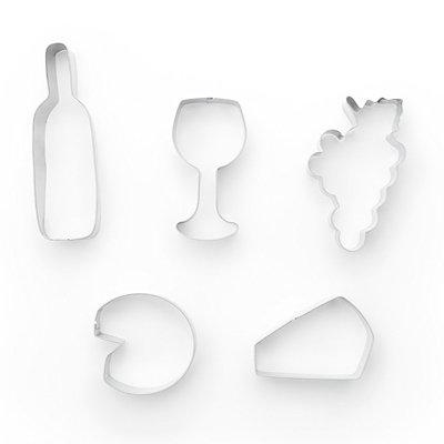 画像1: クッキー型(FoxRun)ワイン&チーズ5個セット箱