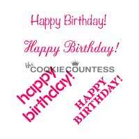 The Cookie Countess(クッキーカウンテス)ステンシル/Happy Birthday(4種類)