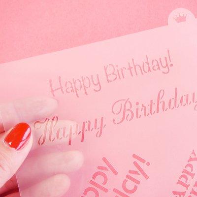 画像3: 〒 CC ステンシル/Happy Birthday(4種類)
