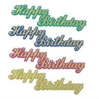 ケーキプレート/Happy Birthday(ゴールド)4枚セット