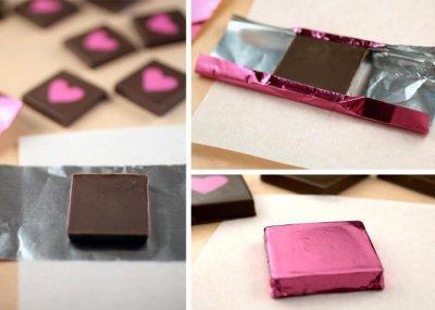 画像1: 〒 チョコレートホイル(125枚入)ピンク<M>