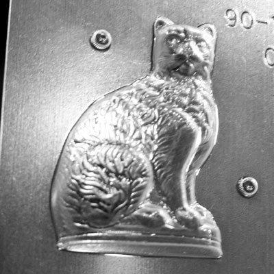 画像1: 〒 CK チョコレート型(立体3D)ネコ