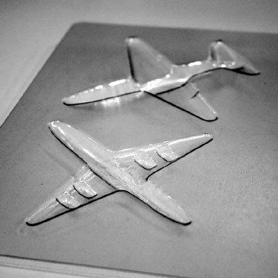 画像2: 〒 CK チョコレート型(立体3D)飛行機