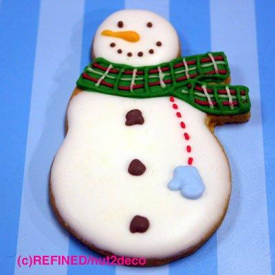画像2: クッキー型/マフラーをしたスノーマン