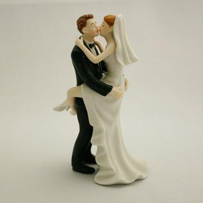画像1: ウエディングケーキトッパー/ラブラブ抱きつき花嫁