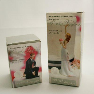 画像2: ウエディングケーキトッパー/手を差し伸べるカップル