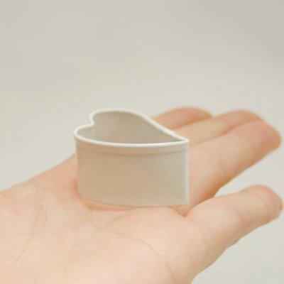画像2: <SALE>〒 クッキー型★ミニ/すっきり斜めハート(白色)