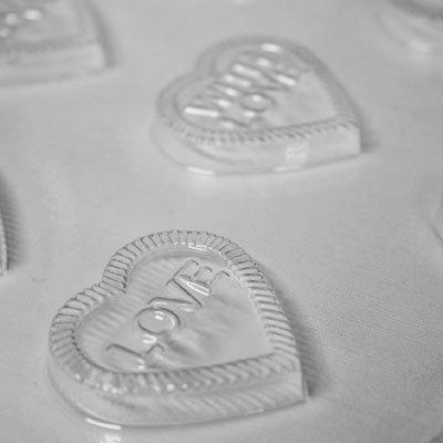 画像1: 〒 CK チョコレート型/キャンディハーツ・メッセージ
