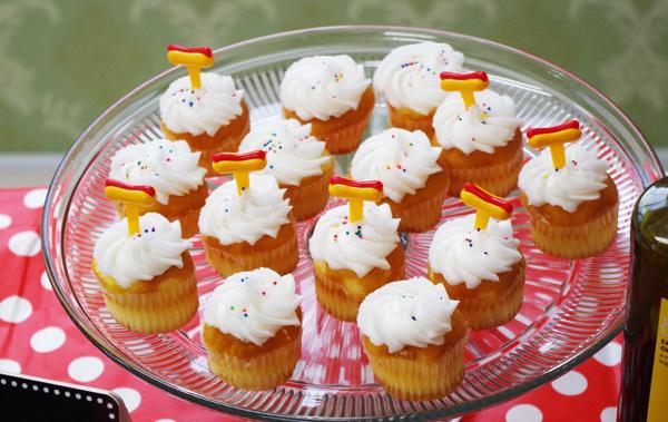 ホットドックカップケーキ
