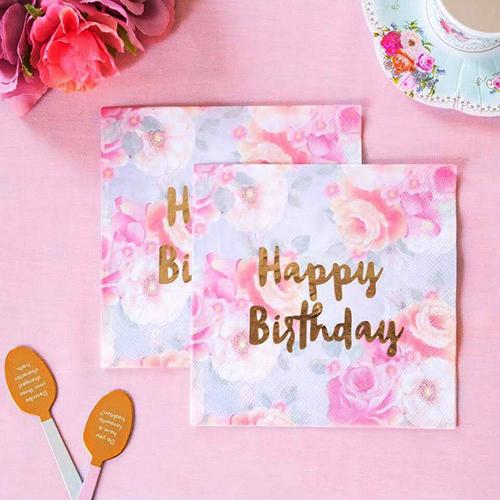 お誕生日ケーキがなくたって、紙ナプキンがあれば大丈夫!