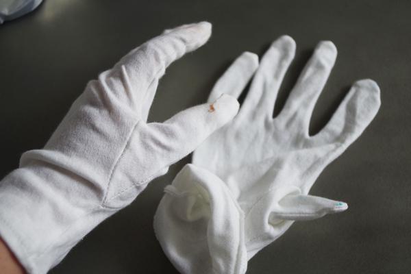 飴作業には「手袋」を用意
