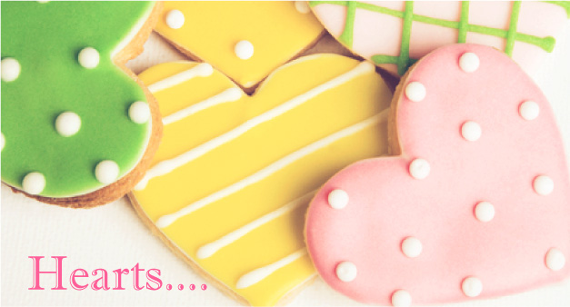 ハートのバレンタインアイシングクッキー