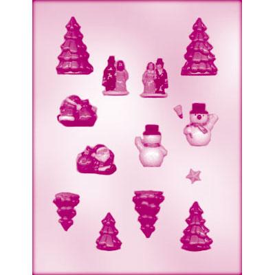 画像1: 〒 CK チョコレート型/クリスマスケーキの飾りセット (1)