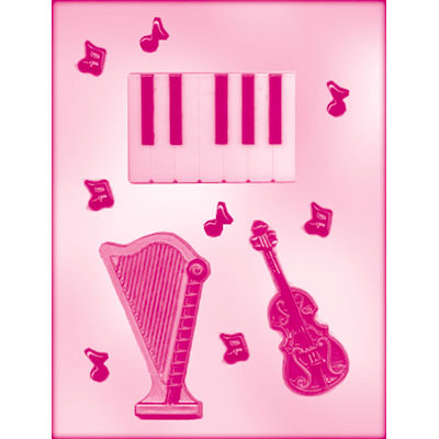 画像1: 〒 CK チョコレート型/キーボードと楽器と♪ (1)