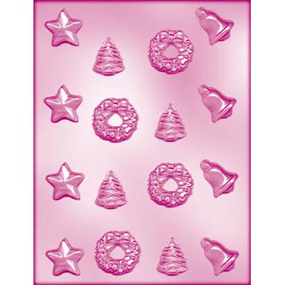 画像1: 〒 CK チョコレート型/クリスマス星入り4種 (1)