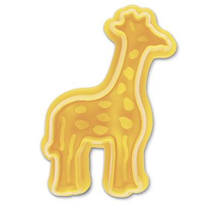 画像1: クッキー型(Stadter)スタンプ(バネ式)キリン (1)
