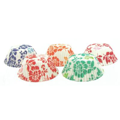 画像1: FoxRun ベーキングカップ 100枚/フラワー 5色 (1)
