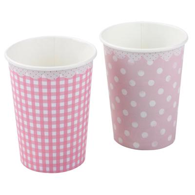 画像1: 紙コップ/ピンク2種 (1)