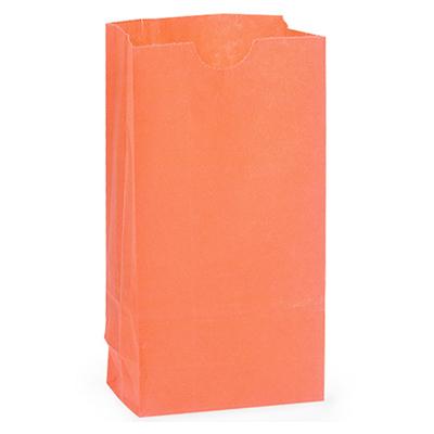 画像1: マチ付きペーパーバッグ5枚/オレンジ (1)