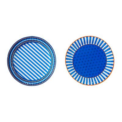 画像1: 紙皿(23cm)ブルー (1)