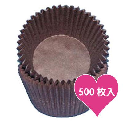画像1: ベーキングカップ 500枚入(グラシン素材)ブラウン (1)