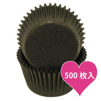 画像1: ベーキングカップ 500枚入(グラシン素材)ブラック (1)