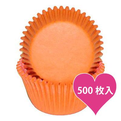 画像1: ベーキングカップ 500枚入(グラシン素材)オレンジ (1)