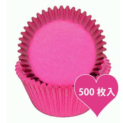 画像1: ベーキングカップ 500枚入(グラシン素材)ピンク (1)