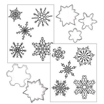 画像1: クッキー型&テクスチャーマット付き/雪の結晶 (1)