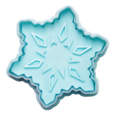 画像1: クッキー型スタンプ(バネ式)雪の結晶 (1)