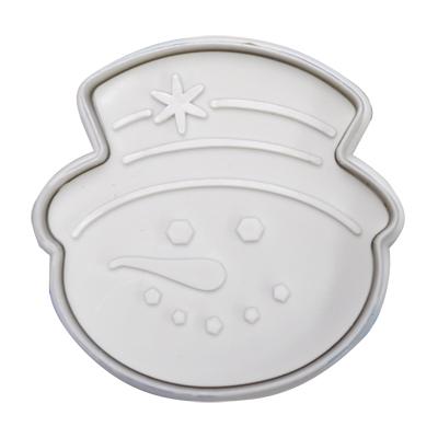 画像1: クッキー型スタンプ(バネ式)スノーマン (1)
