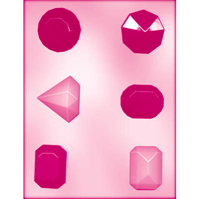 画像1: CK チョコレート型 /大きめ宝石6pc (1)