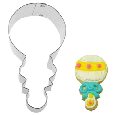 画像1: 〒 クッキー型(FoxRun)赤ちゃんのガラガラ【ステンレス】 (1)