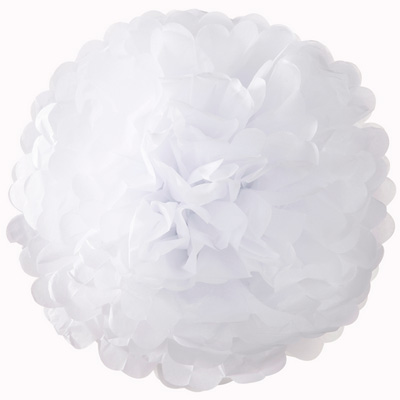 画像1: ポンポンボール25cm/ホワイト5個セット (1)