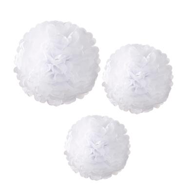 画像1: ポンポンボール/ホワイト3種 (1)