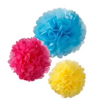 画像1: ポンポンボール/赤・青・黄色 (1)