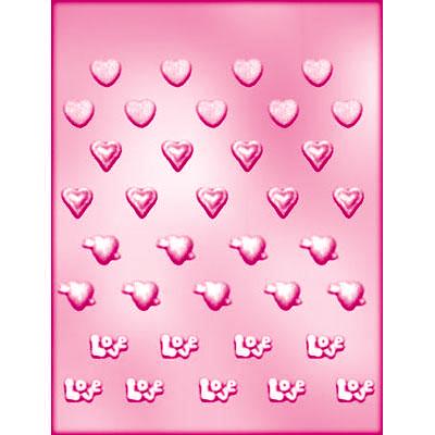 画像1: 〒 CK チョコレート型(プチサイズ)ハートセット (1)