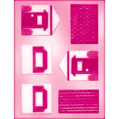 画像1: 〒 CK チョコレート型(立体3D)レンガ屋根のお家 (1)