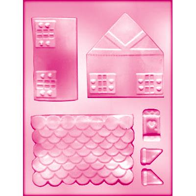 画像1: CK チョコレート型(立体)/フリフリ屋根のお家 (1)