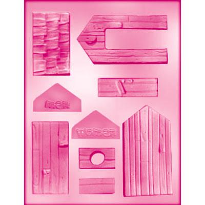 画像1: 〒 CK チョコレート型/木製の建物 (1)