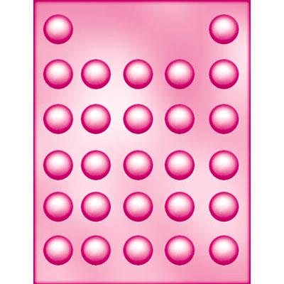 画像1: 〒 CK チョコレート型/丸ミント 2.5cm (1)