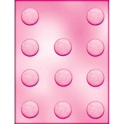 画像1: 〒 CK チョコレート型/平べったい丸型3.5cm (1)