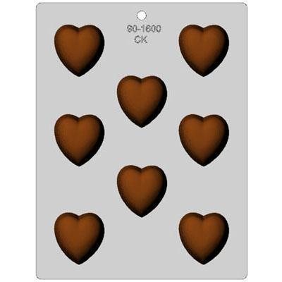 画像1: 〒 CK チョコレート型/ふっくらハート4.5cm (1)