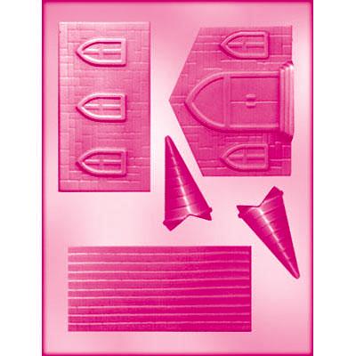 画像1: 〒 CK チョコレート型/教会(3D) (1)
