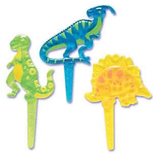 画像1: ケーキピック/恐竜ダイナソー(6本入) (1)